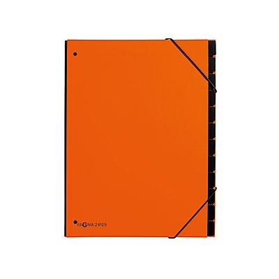 PAGNA Pultordner 24129-09 34x26,5x2cm 12Fächer orange