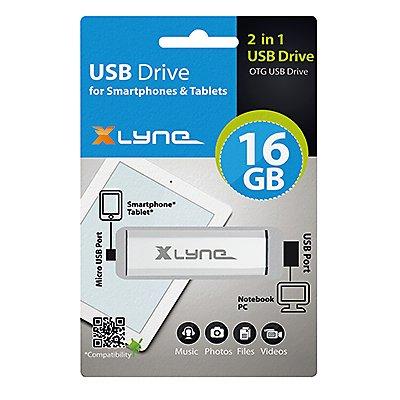 Xlyne USB-Stick OTG 7508000 8GB silber
