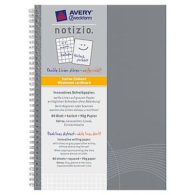 Avery Zweckform Collegeblock 7011 DIN A5 kariert 90g 80Blatt grau