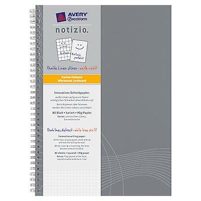 Avery Zweckform Collegeblock 7013 DIN A4 kariert 90g 80Blatt grau