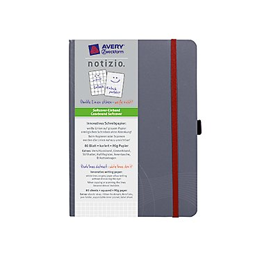 Avery Zweckform Notizbuch     80 Bl. grau