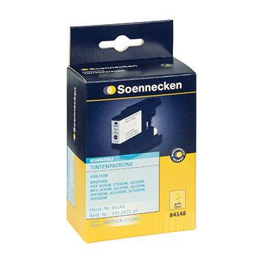 Soennecken Tintenpatrone 84148 wie Brother LC1240Y 10ml gelb
