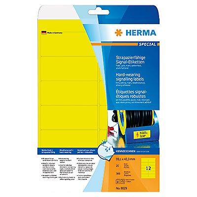 HERMA Signaletikett 8029 99,1x42,3mm gelb 300 St./Pack.