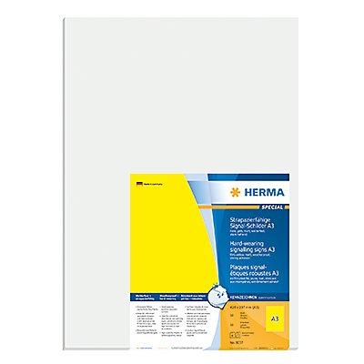 HERMA Signaletikett 8037 420x297mm gelb 50 St./Pack.