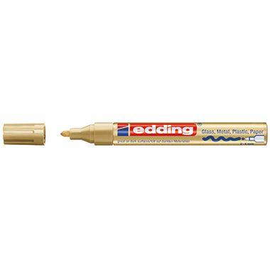 edding Lackmarker 750 4-750053 2-4mm Rundspitze permanent gold