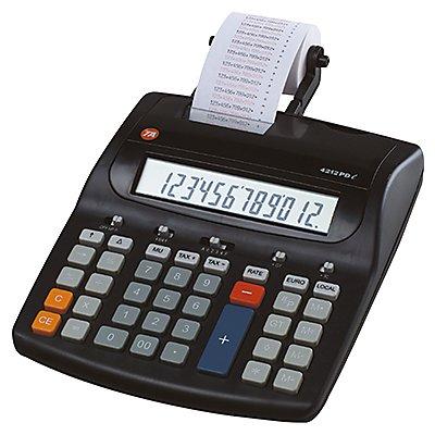 TA Tischrechner TA 4212 PD 12stellig m. Farbrollendruckwerk sw