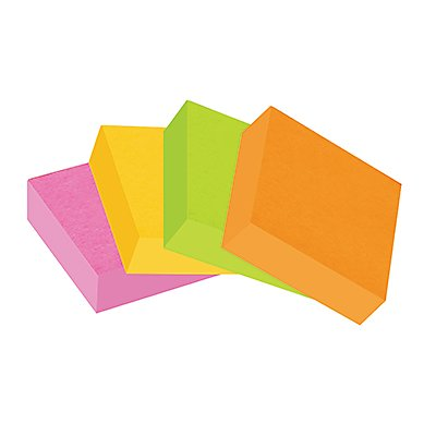 Post-it Haftnotiz Super Sticky 6910YPOG 48x48mm sort. 4 St./Pack.