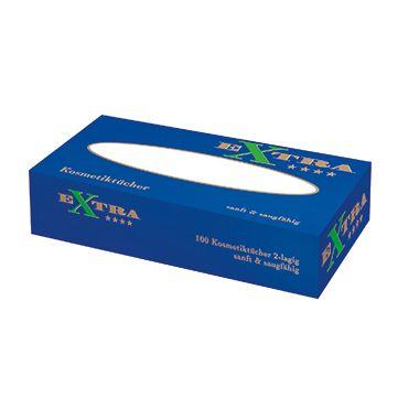 EXTRA Kosmetiktücher 62100 weiß 100 St./Pack.