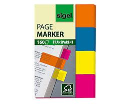 Sigel Haftmarker HN614 50x80mm farbig sortiert 4 St./Pack.