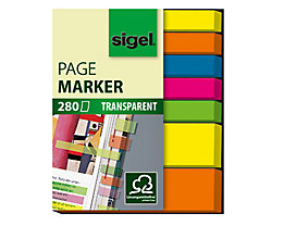 Sigel Haftmarker HN616 50x63mm farbig sortiert 7 St./Pack.