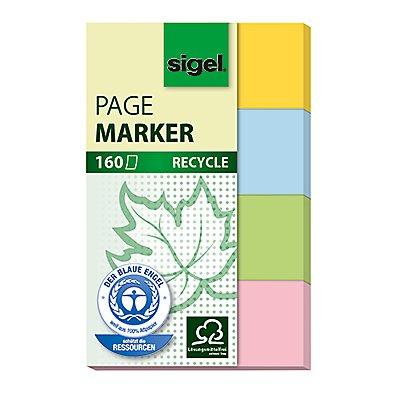 Sigel Haftmarker Recycle HN604 20x50mm farbig sortiert 4 St./Pack.