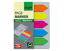 Sigel Haftmarker Film HN611 52x82mm farbig sortiert 5 St./Pack.