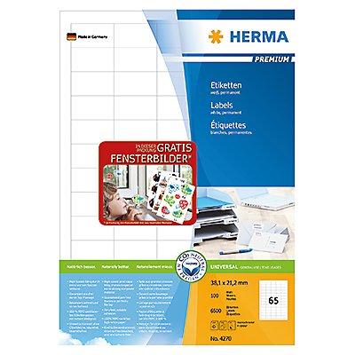 HERMA Etikett PREMIUM 4270 38,1x21,2mm weiß 6.500 St./Pack.