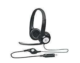 Logitech Headset 981-000406 H390 PC Stereo USB schwarz
