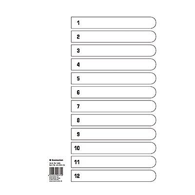 Soennecken Register Mylar 1606 1-12 weiß
