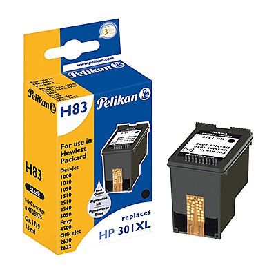Pelikan Tintenpatrone 4108975 H83 wie HP 301XL 18ml schwarz