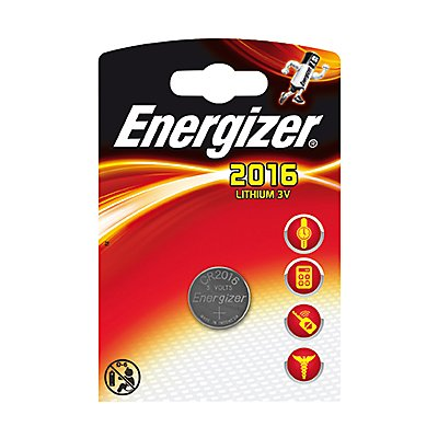 Energizer Knopfzelle 638710 CR2016 Maxiblister