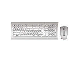 Cherry Tastatur-Maus-Set DW 8000 JB-0300DE silber/weiß