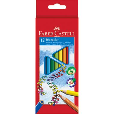 Faber-Castell Farbstift 116512 dreikant sortiert 12 St./Pack.