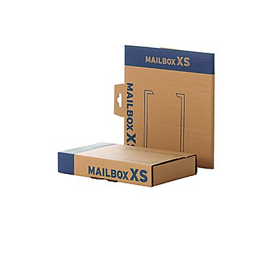 Faltkarton Mailingbox XS 249x157x42mm braun