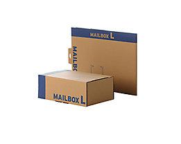 Faltkarton Mailingbox L 400x261x150mm braun