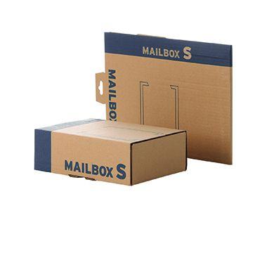 Faltkarton Mailingbox S 255x185x85mm braun