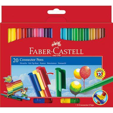 Faber-Castell Fasermaler CONNECTOR Pens sortiert St./Pack.