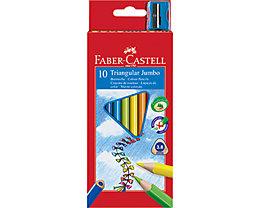 Faber-Castell Farbstift triangular Jumbo farbig sortiert 10 St./Pack.