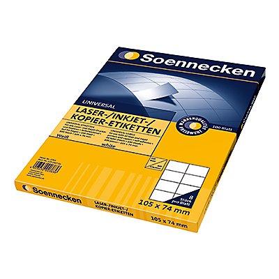 Soennecken Etikett 5753 105x74mm weiß 800 St./Pack.