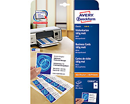 Avery Zweckform Visitenkarte  weiß  St./Pack.