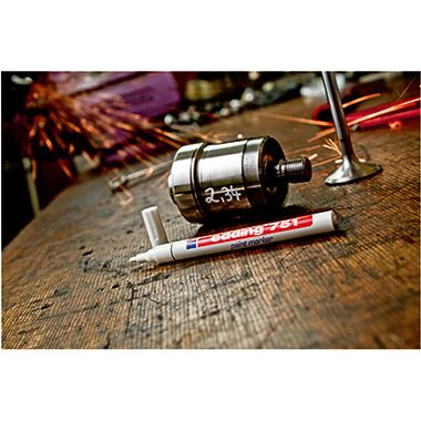 edding Lackmarker 751 4-751054 1-2mm Rundspitze permanent silber