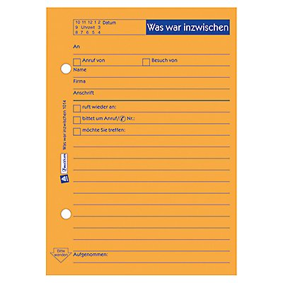 Avery Zweckform Notizblock 1014 DIN A6 Abheftlochung 50Bl. orange