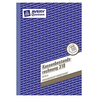 Avery Zweckform Kassenbericht 318 DIN A5 50Blatt