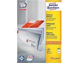 Avery Zweckform Universaletikett 3477 105x41mm weiß 1.400 St./Pack.