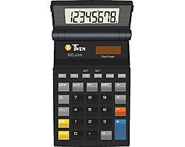 TWEN Taschenrechner 820 S 578 8Zeichen Solar/Batterie schwarz