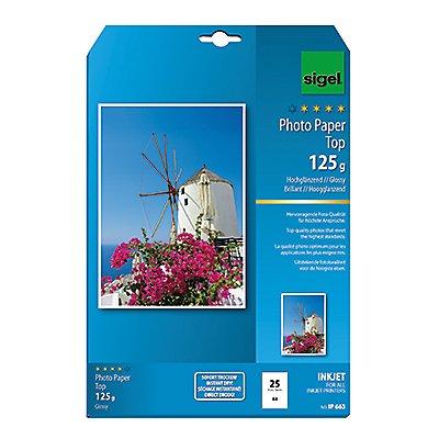 Sigel Fotopapier IP663 DIN A4 125g hochweiß 25 Bl./Pack.