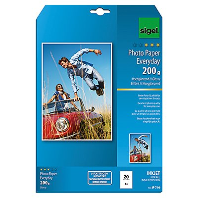 Sigel Fotopapier Everyday-plus  DIN A4  weiß 20 Bl./Pack.