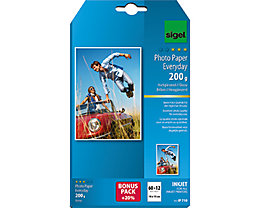 Sigel Fotopapier Everyday-plus IP719 DIN A6 200g weiß 72 Bl./Pack.