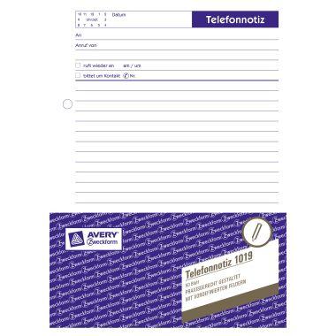 Avery Zweckform Gesprächsnotiz 1019 DIN A5 50Blatt weiß