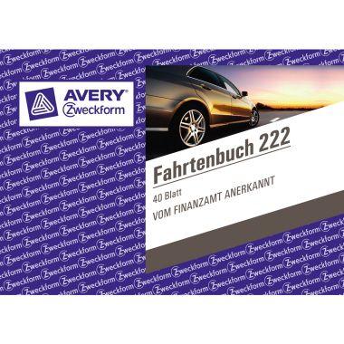Avery Zweckform Fahrtenbuch 222 DIN A6 quer 40Blatt