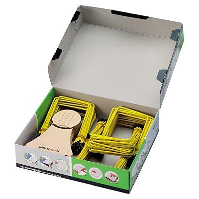 Jalema Abheftbügel Pli-Fix A639800 gelb/schwarz 100 St./Pack.