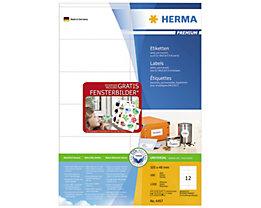 HERMA Etikett PREMIUM 4457 105x48mm weiß 1.200 St./Pack.