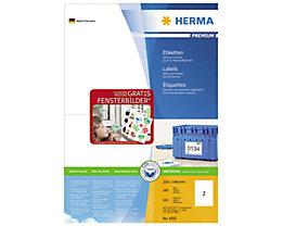 HERMA Etikett PREMIUM 4282 210x148,5mm weiß 200 St./Pack.