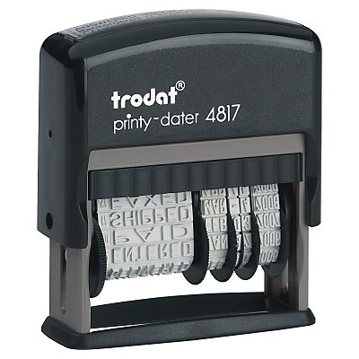 trodat Wortbandstempel Printy Dater 4817 46x4mm grau/schwarz