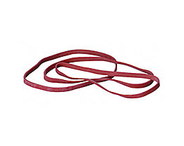 Gummiband 5x100mm rot 50 g/Pack.
