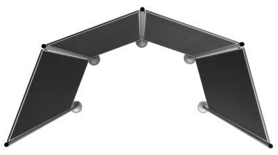 magnetoplan® Präsentationswand-Set - 1 Pinntafel, 2 Säulen - Gesamtbreite 1345 mm