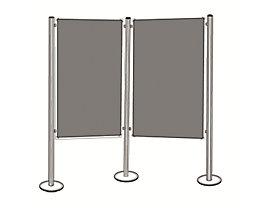 magnetoplan® Präsentationstafel-Set - 2 Pinntafeln, 3 Säulen