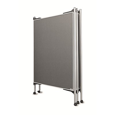 magnetoplan® Präsentationsständer-Set, mobil - 4 Pinntafeln, 5 Säulen - Breite 4 x 1200 mm