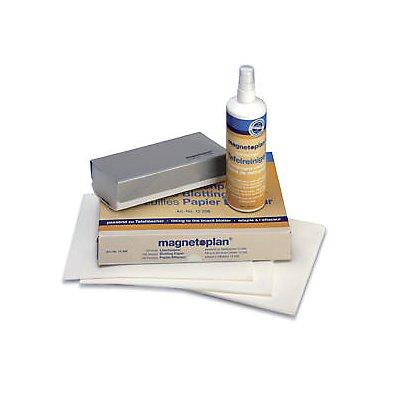 magnetoplan® Reinigungsset - für Whiteboard - Löscher, Löschpapier, Tafelreiniger