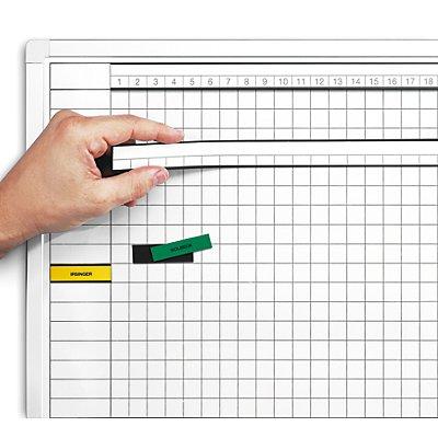 magnetoplan® Tableau quadrillé ferroscript® - quadrillage 11 x 11 mm